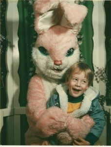 Easter Bunny also needs to stop look so terrifying.